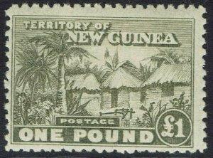 NEW GUINEA 1925 HUT 1 POUND