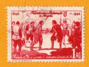 Angola Tercentenary of Restoration of Angola 1A 1948 Used