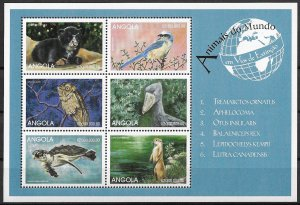 Angola MNH S/S Fauna Birds Animals