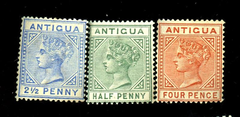 Antigua #12 14 16 MINT F-VF OG HR Cat$15