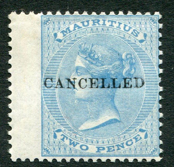 MAURITIUS ~ #33 Very Nice Mint Light Hinged Issue CANCELLED OVERPRINT ~ S5475