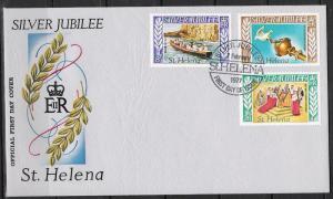 St Helena #311 FDC Silver Jubilee Issue