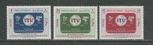 Kuwait Scott catalogue # 286-288 Unused HR