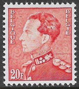 BELGIUM 1936-51 20fr Perf. 11 1/2 King Leopold III Portrait Issue Sc 308 MNH