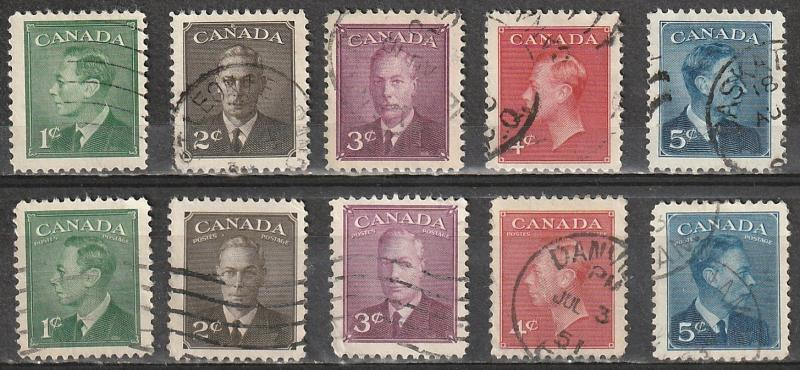 #284-88,289-93 Canada Used with and without POSTES