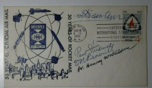 50 Years of Official AirMail 30 Yrs Rocket Mail NYC 1961 Signed Philatelic Cover