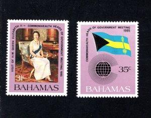 Bahamas 586-587, Mint (NH), VF, Cat. $6.00 ....0420442