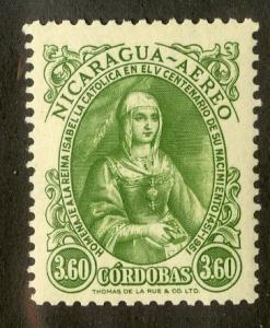 NICARAGUA C320 MNH SCV $2.75 BIN $1.50 ROYALTY