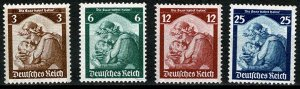 GERMANY 1935 FULL SET SAAR RESTORATION MINT (NH) SG562-65 Wmk.W97 P.14 SUPERB