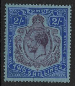 BERMUDA SG88c 1927 2/= NICK IN TOP RIGHT SCROLL VARIETY MTD MINT