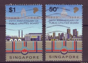 J21426 Jlstamp 1988 singapore hv,s of set used #530-1 public utilities