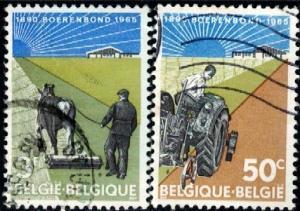 Belgian Farmers' Association, 75th Anniv., Belgium SC#634-635 used set