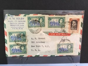 Middle East Air Mail to New York   stamps cover front  R31641