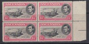 Ascension, Scott 42Cd (SG 40d), MNH block of four