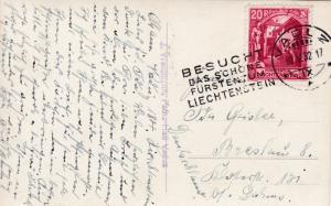 Liechtenstein 1932 Real Photo View Card. Vaduz to Germany  VF