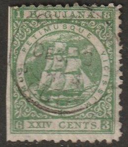 British Guiana 1863 Sc 63 used