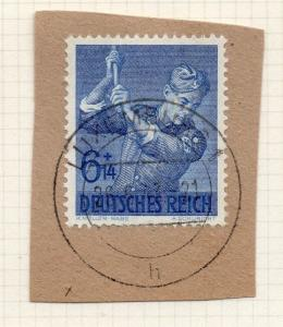 1944-45 GERMANY used in LUXEMBOURG Fine Used 6p. Postmark Piece 241796