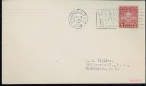1929 Washington DC Lets Go Citizens Military Training Camps Event Postal Cover