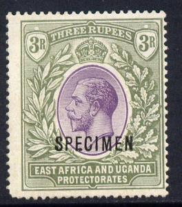 Kenya, Uganda & Tanganyika 1912-21 KG5 MCA 3r overprinted...