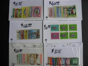 QATAR interesting stamps assembled on sales cards, worth checking out!