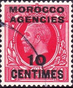 MOROCCO AGENCIES 1935KGV10c on 1dScarlet SG154FU