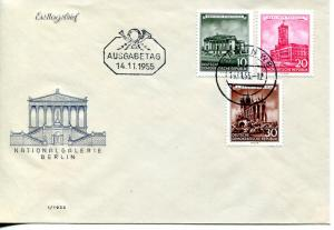 GDR 1955  National Gallery  unaddressed FDC  VF