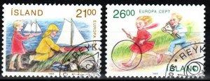 Iceland #675-6   F-VF Used CV $2.50 (X208)