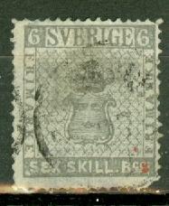 Sweden 3 used thins CV $1600