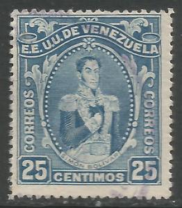 VENEZUELA 258 VFU BOLIVAR R925-3