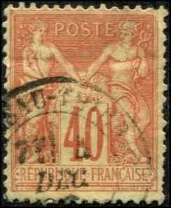 France SC# 95b Peace & Commerce 40c  Used