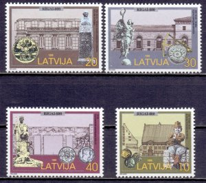 Latvia. 1998. 481-84. Architecture. MNH.