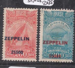 Brazil Zeppelin SC C26-7 MNH (3dif)