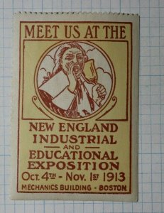 New England Industrial & Educational Expo 1913 Industry Poster Stamp Ads