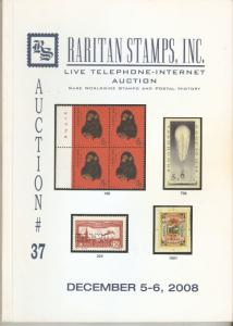Raritan Catalog Auction #37,Dec 2008 Rare Russia, Errors & Worldwide Rarities
