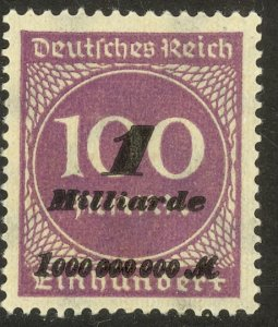 GERMANY 1923 1mlrd m on 100 m Inflation Issue Sc 310 MH