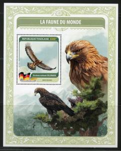 TOGO 2016  FAUNA OF THE WORLD  GERMANYS OFFICIAL  BIRD  S/S  MINT NH