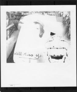 Burkina Faso Diana Princess SS Color Proof Black  SC # 1090U Imperforated