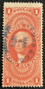 US Revenue #R69c Used Single Machine Cancel George Washington SCV $.70 L37