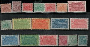 French Guiana 1905-1928 51-86 Mint SCV $79.00