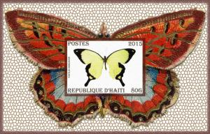 HAITI SHEET CINDERELLA IMPERF BUTTERFLIES INSECTS
