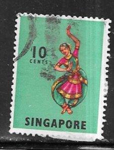 Singapore #88a 10c Dancer  (U) CV $7.00