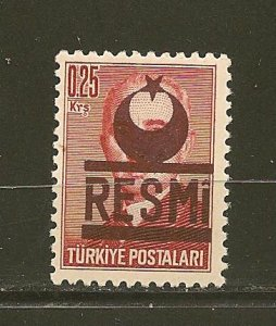 Turkey O17 Official MNH