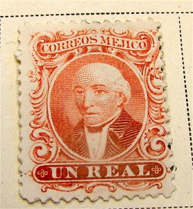 MEXICO----1863-----Beautiful Un Real Postage Stamp..Mint--OG--Hinged