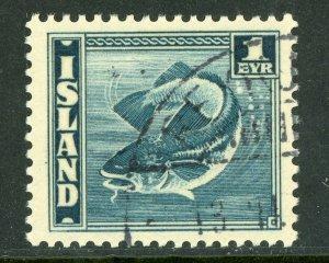 Iceland 1939 Fish Scott #217 Perf 14 VFU G195