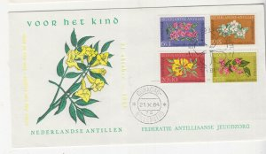 NETHERLANDS ANTILLES,1964 Child Welfare Fund set of 4, First Day cover