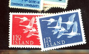 ICELAND #298-99 MINT VF OG NH Cat $11