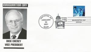 Dick Cheney Inaugural cover Noble Catalog number vRBC-17