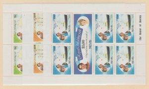 Nevis Scott #135-140 Stamps - Mint NH Souvenir Sheet