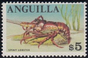 Anguilla 1967-68 MNH Sc #31 $5 Spiny lobster