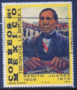 MEXICO 1044 Benito Juarez Death Centennial. Used (256)